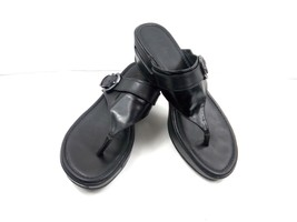 Cole Haan NikeAir Women's Sandals Maddy Black Leather Thong Slides D3329... - $751,37 MXN