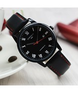 CHRONOS Watches Men Roman Numerals Leather Watch Mens Waterproof Quartz ... - €17,08 EUR