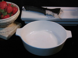Corning Ware Centura White Coupe Buffet Server Glass Cookware Mid Century - $35.99