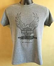 Motor Harley Davidson T-Shirt 115 Years Milwaukee Eagle Gray Men's Small - $28.04