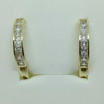 Elements Love Huggie Hoop Earrings Made With Swarovski Elements 14k Gold... - $17.46