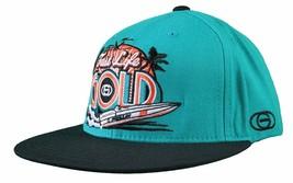 Gold M.V.P. Turquoise Black Fast Life Miami Starter Snapback Baseball Cap Hat NW image 2