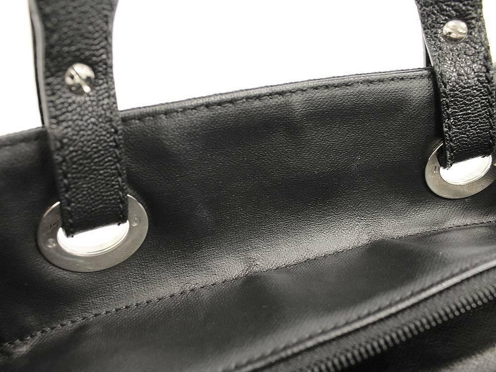 CHANEL Paris Biarritz Tote Bag PM PVC Leather Black A34208  Authentic 5462858