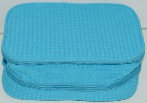 Terry Town CBW001 Waffle Weave Cosmetic Bag Color Aqua Water Repellent