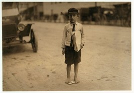 Waco, Texas child barefoot boy 5 x 7 reprint newsie historical photo print - $4.65
