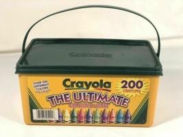 Crayola The Ultimate 200 Crayon Reusable Bucket Original Solid Green Top - $34.64