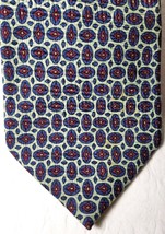 RALPH LAUREN POLO MENS Neck Tie Necktie 100% Silk BLUE RED GREY GRAY HAN... - $9.89