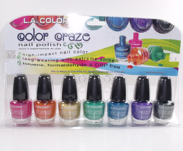 Primary image for L.A. Color Craze Nail Polish High Impact Long Wearing 7 Pcs