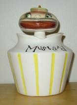 Vintage Lefton Pixieware Hamburger Mustard Spoon Pot Condiment Anthropom... - $149.99