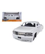1999 Chevrolet Silverado Dooley White 1/24 Diecast Model Car by Jada 90145w - $32.01