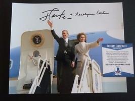 President Jimmy Carter & Rosalyne Signed Auto'd 8x10 Photo Beckett Certi... - $229.99