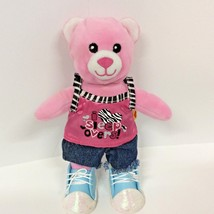 "Build A Bear Pink Bear Smallfrys Plush BABW  With Outfit 7"" 2011 - $11.14"