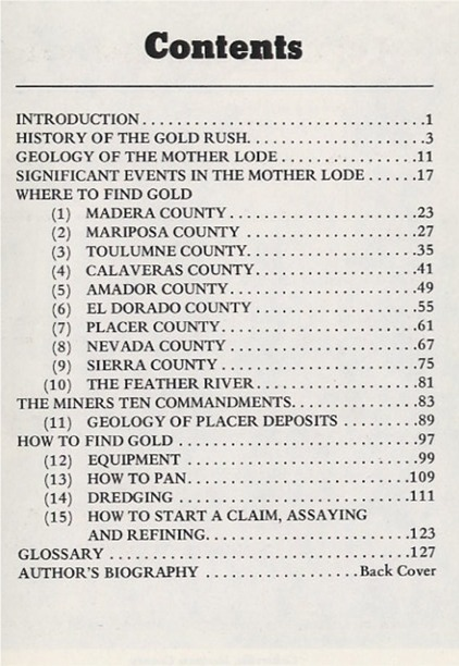 Where to Find Gold in the Mother Lode ~ Gold Prospecting