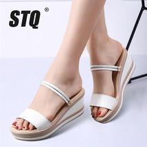 wedge women 2018 STQ sandals flip Summer beach platform Sandals women flop flat 6Z8w8dx