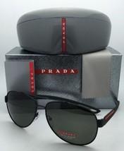 Polarisé Prada Lunettes de Soleil Sport Sps 55Q DG0-5X1 Noir Rubber&gree... - $391.13
