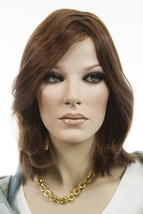 Chestnut Brown Dark Auburn Frost Medium Human Hair Lace Front Monofilament Wigs - $713.59