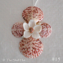 Seashell Cross Flower Crucifix Christmas Ornament Wall Hang Decoration B... - $12.99