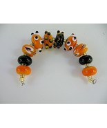 Set Gold, Black & White Handmade Italian Glass ... - $30.00