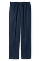 Lands End (Boys 12, 24 Inseam) Plain Front Elastic Waist Chino Pant, Navy - $12.99