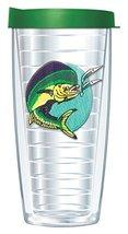 Mahi Mahi Emblem Traveler 16 Oz Tumbler Mug with Lid - $17.95