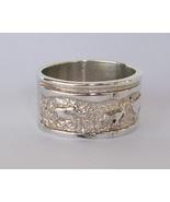 Wide Band, Sterling Silver Petroglyph Symbol Ri... - $60.00