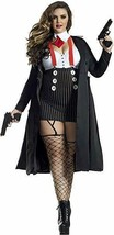 Party King Gangster Babe Mob Mafia Adult Plus Size Halloween Costume PK1... - $58.99