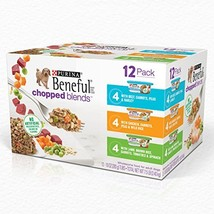 Purina Beneful Wet Dog Food Variety Pack, Chopped Blends - 12 10 oz. Tubs