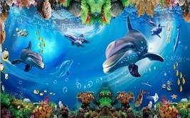3D Weg Delfine 87632 Fototapeten Wandbild Fototapete BildTapete Familie DE - $52.21+