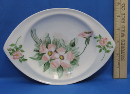Decorative Hand Painted Plate Pink Flowers Floral Made Bavaira Trinket V... - $8.90