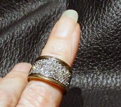 Diamond Band Ring, 14K Yellow and White Gold, Size 4 - $875.00