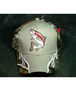Fisherman's Baseball Sport Cap in Camo with a Fish Applique - $12.98