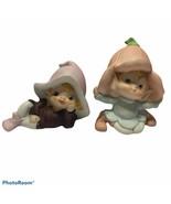 Vintage Homco Fairy Pixie Elves Flower Figurines 5615 5213 - $18.70