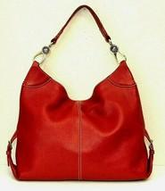 Dooney & Bourke Red Pebbled Grain Leather Hobo Shoulder Handbag - $116.50