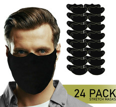 Reusable Cloth Washable Stretch Face Cover Masks Handmade in USA Lot of 24 image 1