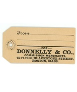 Donnelly Co vintage hangtag butter poultry Boston MA advertising meat fruit - $4.50