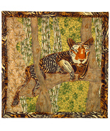Tiger: Quilted Art Wall Hanging - $405.00