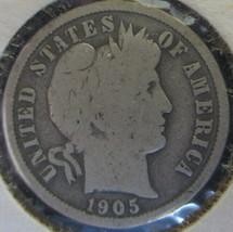 1905-S Barber Dime, silver - $4.94
