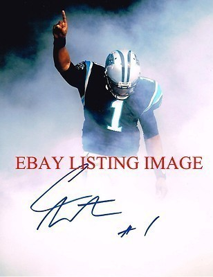 CAM NEWTON AUTOGRAPHED AUTO 8x10 RP PHOTO HEISMAN CAROLINA PANTHERS QB