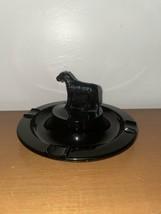 Vintage Black Glass Scottie Dog Ashtray - $14.85