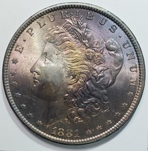 1881 Beautifly Toned MORGAN SILVER DOLLAR COIN Lot# 818-63