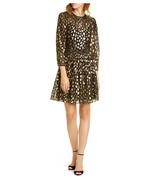 Rebecca Taylor BLACK COMBO Leopard Metallic Dress, US 4 - $171.52
