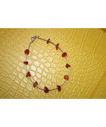 Carnelian red orange stones bracelet in jewelry gift bag  - $15.00