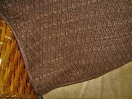 Restoration Hardware Diamond Marquis Stitched Silk Brown Euro Pillow Sham Euc - $29.97