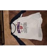 Womens MLB World Series Washington Nationals 3/4 T-Shirt Large - $15.75