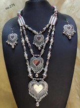 Handmade Top Class Quality Bollywood Partywear Fashion Earrings Necklace Set MG4 - $34.44