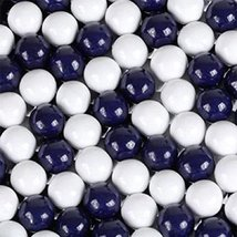 Navy Blue & White Sixlets Mini Milk Chocolate Balls 5LB Bag by Sixlets - $27.22