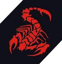 "Scorpion Car Decals Car Sticker Cool Stickers Car Window Sticker RED (15.7"")"