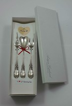 "Burgundy by Reed and Barton Sterling Silver ""I Love You"" Serving Set 3pc Custom - $185.25"