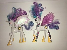 My Little Pony Talking Princess Set of 2 Celestia Alicorn Light Up Working - $25.94