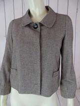 BANANA REPUBLIC Blazer 4 Black Brown White Cotton Wool Nylon Shorty Crop... - $58.41